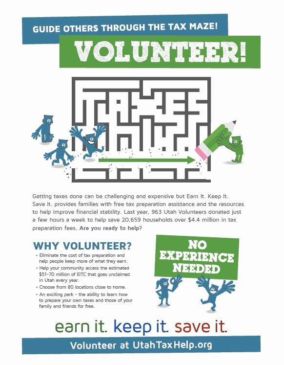 COMMUNITY VOLUNTEERS ARE NEEDED NOW: Learn more about federal taxes and help others in your community